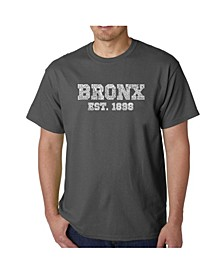 Mens Word Art T-Shirt - Popular Bronx, NY Neighborhoods