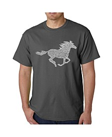 Mens Word Art T-Shirt - Mustang