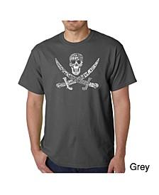Mens Word Art T-Shirt - Pirate
