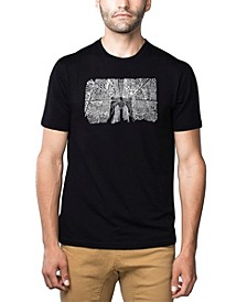 Mens Premium Blend Word Art T-Shirt - Brooklyn Bridge