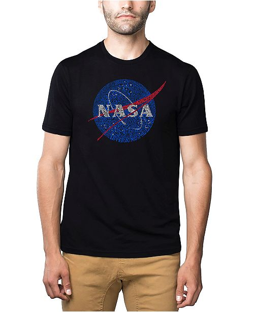 LA Pop Art Mens Premium Blend Word Art T-Shirt - Nasa Meatball Logo