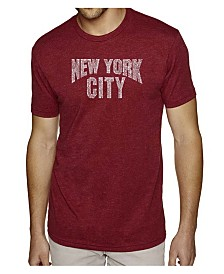 LA Pop Art Mens Premium Blend Word Art T-Shirt - New York City Neighborhoods