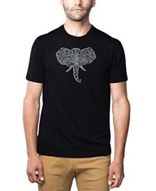 LA Pop Art Mens Premium Blend Word Art T-Shirt - Elephant Tusks