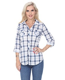Women's Oakley Stretchy Plaid Top