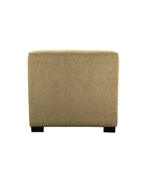 MJL Furniture Designs Merton Button Tufted Upholstered Square Ottoman