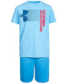 Under Armour Big Boys Charged Cotton® Crossfade T-Shirt & Prototype Wordmark Shorts Separates
