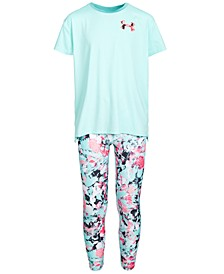Big Girls Mesh-Panel Logo-Print T-Shirt & Printed Leggings Separates