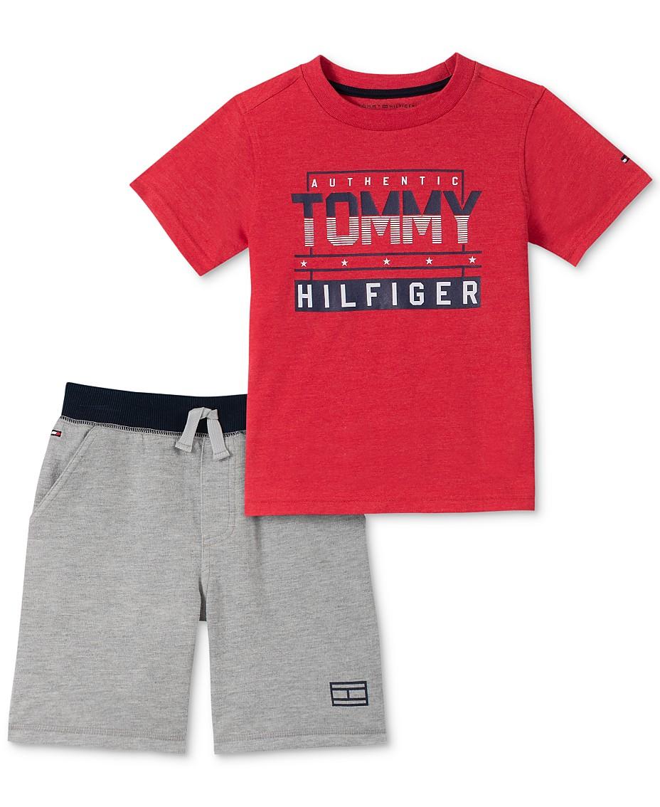 7043233f2 Tommy Hilfiger Baby Boys 2-Pc. T-Shirt & Shorts Set