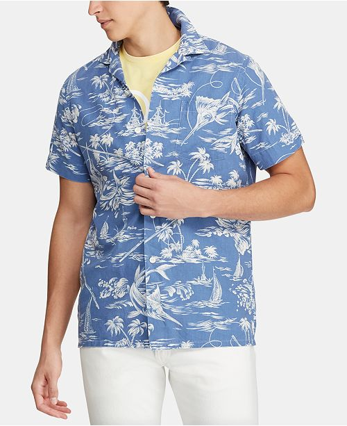 Polo Ralph Lauren Men's Classic-Fit Hawaiian Camp Collar Shirt