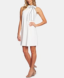 CeCe Scallop-Trim Shift Dress