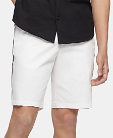 "Calvin Klein Men's Flat-Front 10"" Shorts"