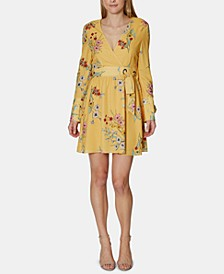 Havana Floral-Print A-Line Dress