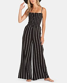 Billabong Juniors' Striped Wide-Leg Jumpsuit