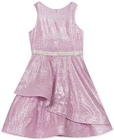 Rare Editions Big Girls Mermaid Glitter Metallic Dress