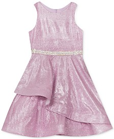 Rare Editions Big Girls Mermaid Glitter Metallic Dress