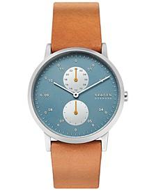 Men's Kristoffer Brown Leather Strap Watch 42mm