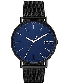 Men's Signatur Black Stainless Steel Mesh Bracelet Watch 45mm