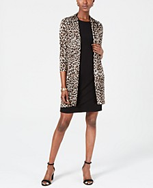 Animal-Print Jacket & Shift Dress