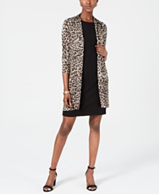 Jessica Howard Animal-Print Jacket & Shift Dress