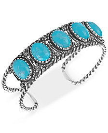 American West Turquoise Cuff Bracelet (25-3/8 ct. t.w.) in Sterling Silver