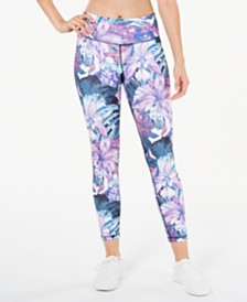 Ideology Floral Printed Leggings, Created for Macy's
