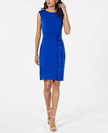 Ruffle-Side Shift Dress