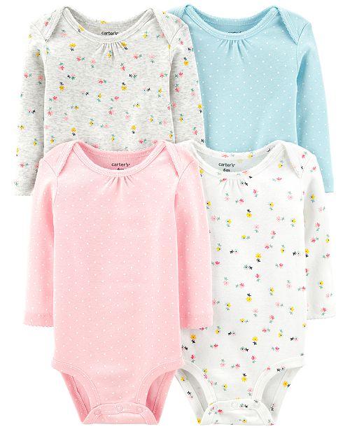 Carter's Baby Girls 4-Pk. Cotton Bodysuits