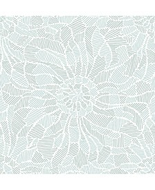 """Daydream Abstract Floral Wallpaper - 396"""" x 20.5"""" x 0.025"""""""