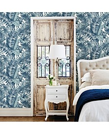 "Alfresco Palm Leaf Wallpaper - 396"" x 20.5"" x 0.025"""