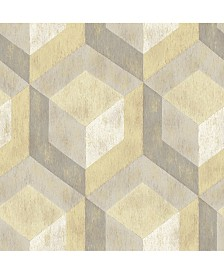 """Brewster Home Fashions Rustic Wood Tile Wallpaper - 396"""" x 20.5"""" x 0.025"""""""