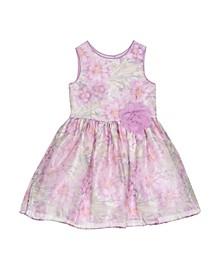 London Girls Violet Floral Print Dress