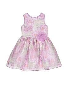 Laura Ashley Toddler and Little Girl's Violet Floral Print Dress