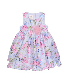 Laura Ashley Toddler and Little Girl's Sleeveless Floral Print Party Dress