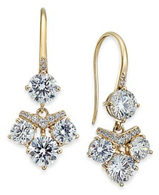 Gold-Tone Crystal Cluster Drop Earrings, Created for Macy's