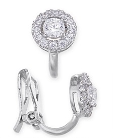 Cubic Zirconia Halo Clip-On Earrings, Created for Macy's