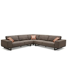 Laser 3-Pc. Fabric Sectional Sofa