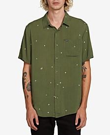 Men's Hole Punch Short Sleeve Woven Shirt