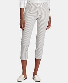 Lauren Ralph Lauren Seersucker Skinny Pants