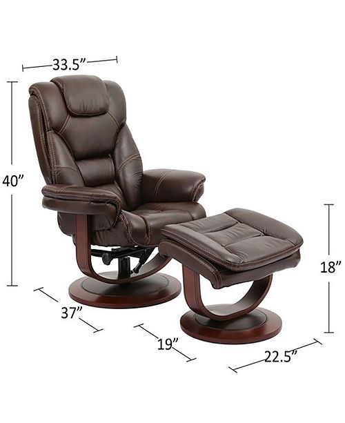 Superb Faringdon Leather Euro Chair Ottoman Gmtry Best Dining Table And Chair Ideas Images Gmtryco
