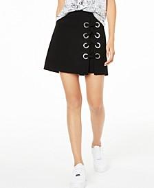 Grommet Mini Skirt, Created for Macy's