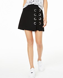 Bar III Grommet Mini Skirt, Created for Macy's