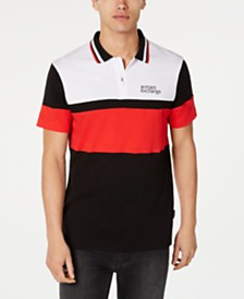 A|X Arrmani Exchange Men's Colorblocked Logo Polo Created For Macy's