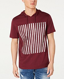 INC Men's High Density Striped Hooded T-Shirt, Created for Macy's