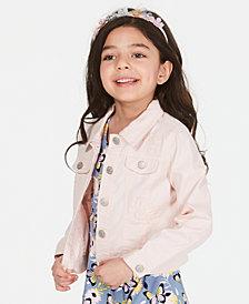 Epic Threads Little Girls Crochet-Trim Denim Jacket, Created for Macy's