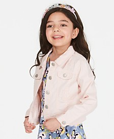 Epic Threads Toddler Girls Front-Button Denim Jacket, Created for Macy's