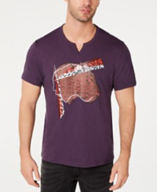 I.N.C. Men's Abstract Leopard Graphic T-Shirt, Created for Macy's