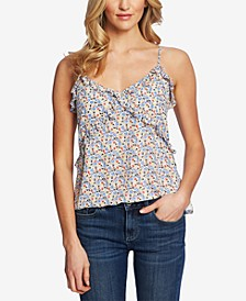Moroccan Ditsy Ruffled Top
