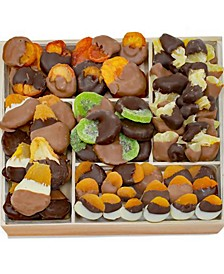 Deluxe Belgian Chocolate-Dipped Dried Fruit Tray