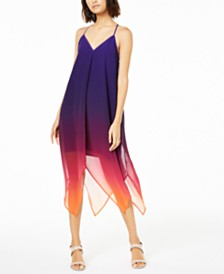Bar III Ombré Handkerchief-Hem Dress, Created for Macy's