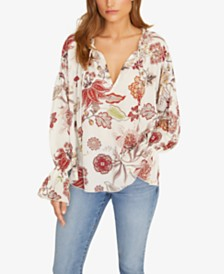 Sanctuary Prairie Days Smocked Printed Peasant Top
